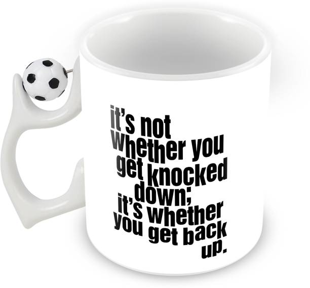 602d184dd3c Tuelip it's not whether you get knocked down Rotating Football Printed  Coffee Ceramic Mug