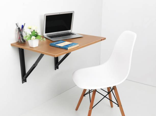 Invisible Bed idesk_Dark_Walnut Engineered Wood Study Table