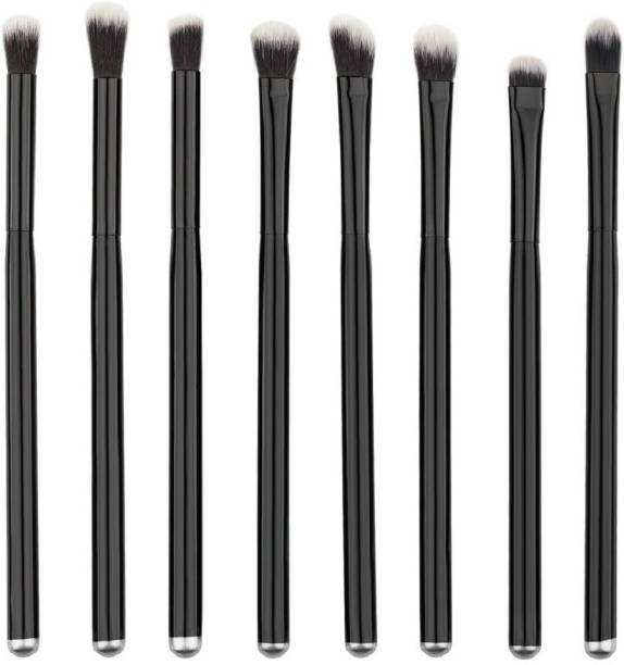Futurekart Black Handle Professional Eye Shadow Makeup Brushes Set Cosmetic Eyeshadow Nylon Hair Brush Kits(8pcs)