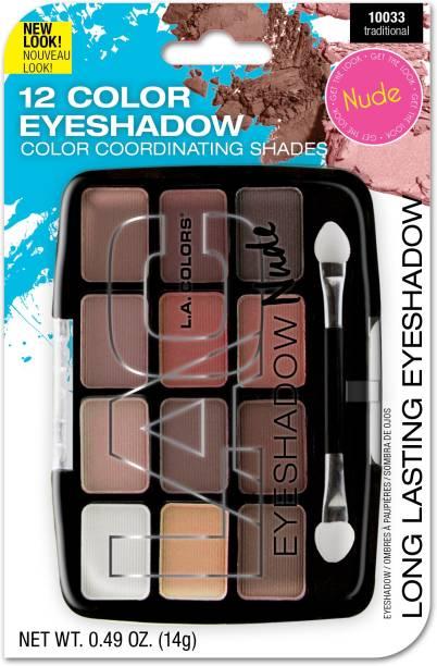 L.A. COLORS 12 Color Eyeshadow Palette 14 g