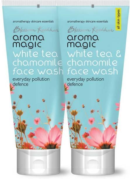 Aroma Magic Pack of 2 White Tea & Chamomile (100 ml) Face Wash