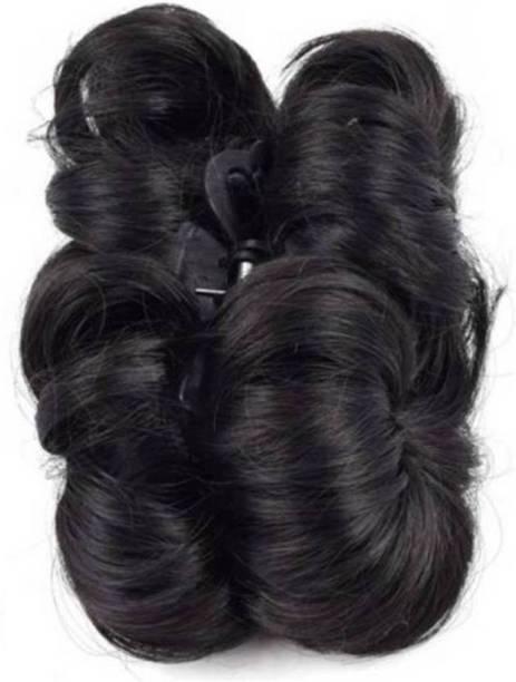 CRIBE Best Quality Silky Juda Bun Black Hair Extension