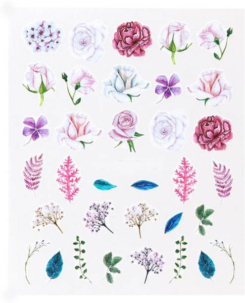 SENECIO® Rose Leafy Bloom Flora Hand Painted Illution Vintage Style No.S715
