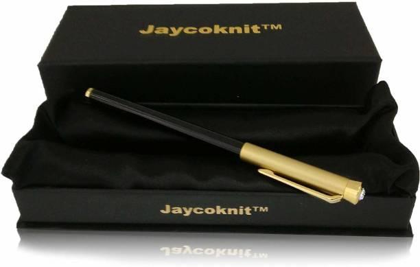 Jaycoknit Berkaz Metal Premium Magnet Cap Ball Pen,Corporate Gift Pen Set (Pack of 1,Ink-Blue) Ball Pen