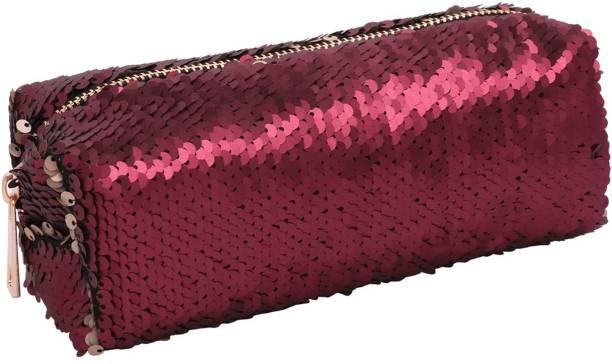 Grab Offers Girl's Women's Reversible Bling Bling Sequins Makeup Kit Case Cosmetic Bag