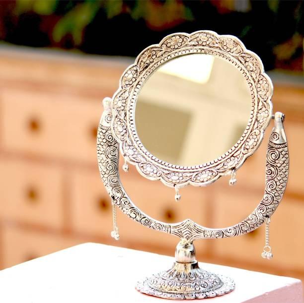 Craft Junction Handcrafted Fish Design Mirror View Decorative Showpiece  -  30 cm