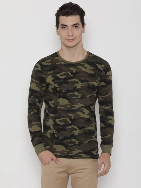 956811756b740c Unisopent Designs Military Camouflage Men Round or Crew Multicolor T-Shirt