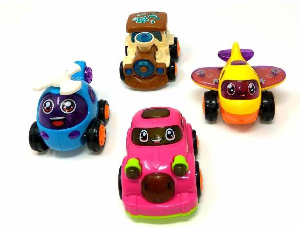 Funnytool Toy Friction Powered Cars Early Educational Toddler Baby Toy Push and Go