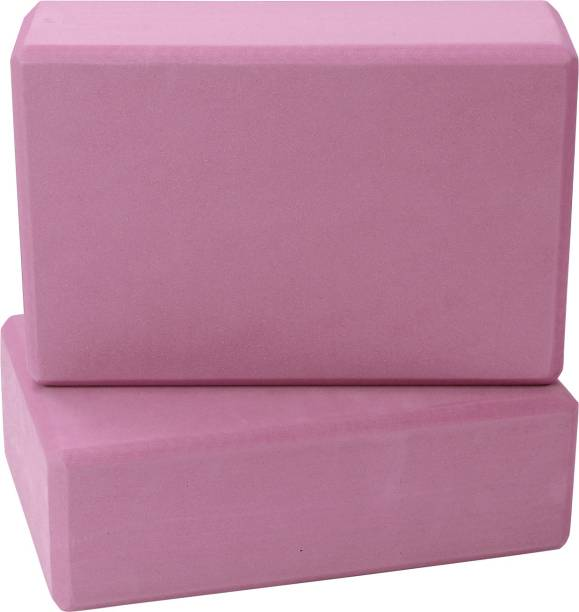 FITSY Moisture-Proof High Density Foam Yoga Block Brick, Pack of 2, Pink Yoga Blocks