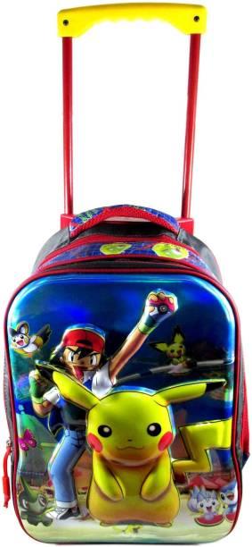 ehuntz Pokemon 5D embossed Trolley/Travel Bag school Bag (7 to 15 years) (EH1481) gift for kids Waterproof Trolley