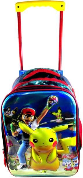 ehuntz Pokemon 5D embossed Trolley/Travel Bag school Bag (7 to 15 years) (EH1480) gift for kids Waterproof Trolley