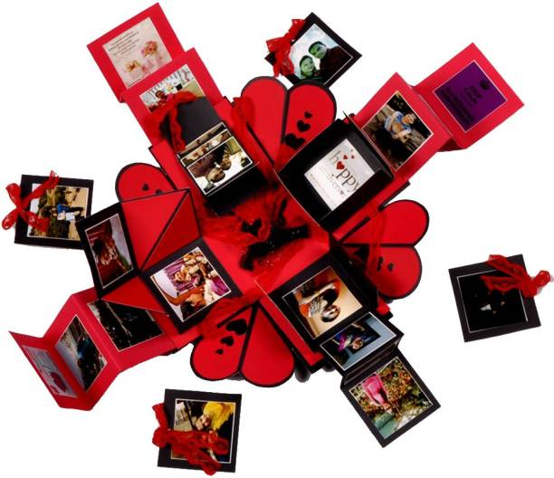 Crafted with passion Explosion box for valentine's day , birthday or anniversary , gift box for any occasion Greeting Card