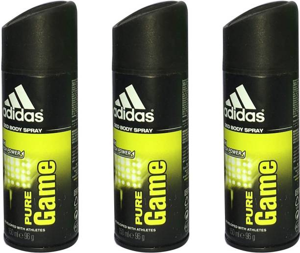 ADIDAS PURE GAME (PACK OF 3) Deodorant Spray  -  For Men