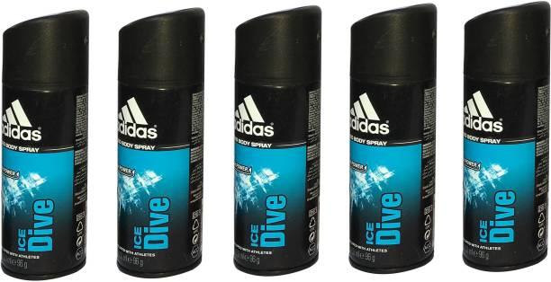 ADIDAS ICE DIVE (PACK OF 5) Deodorant Spray  -  For Men