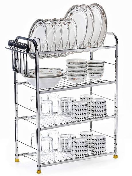 Winstar 4 Shelf Dish Rack   Modular Kitchen Utensils Rack   18 L x24 H inch Storage Basket   Utensil Kitchen Rack