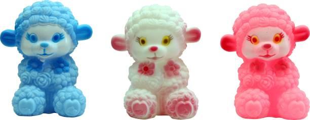 ODDEVEN Soft Bath Toy Chu Chu Toys - Set Of 3 Multi-Colors Bath Toy