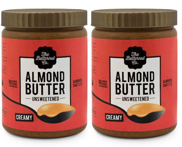 The Butternut Co. Unsweetened Almond Butter (Creamy) (1 Kg Pack of 2) 2 kg