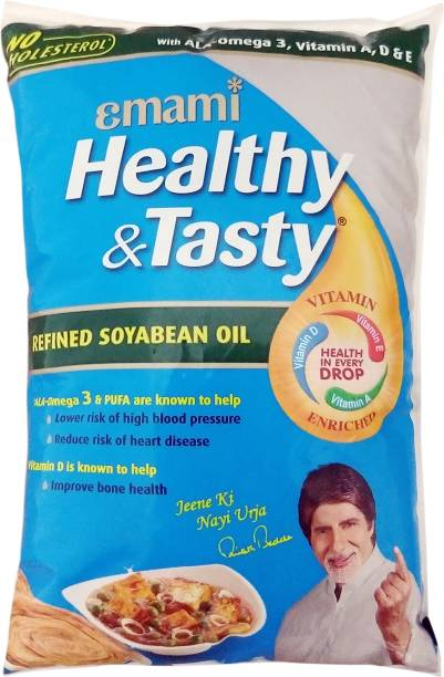 EMAMI Healthy and Tasty Refined Soyabean Oil Pouch