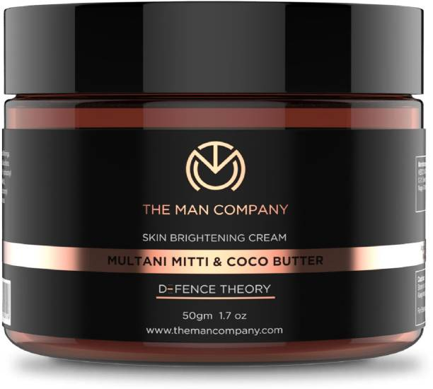 THE MAN COMPANY Skin Brightening Cream Multani Mitti Coco Butter Defence Theory