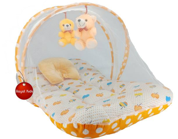 Aayat Kids Cotton Infants Best Quality Size 6 to 12 Months Exclusive Baby Mosquito Nets Bed Luxury Soft M104 Mosquito Net
