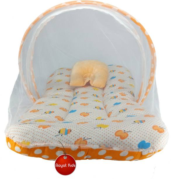Aayat Kids Cotton Infants Best Quality Size 6 to 12 Months Exclusive Baby Mosquito Nets Bed Luxury Soft M99 Mosquito Net