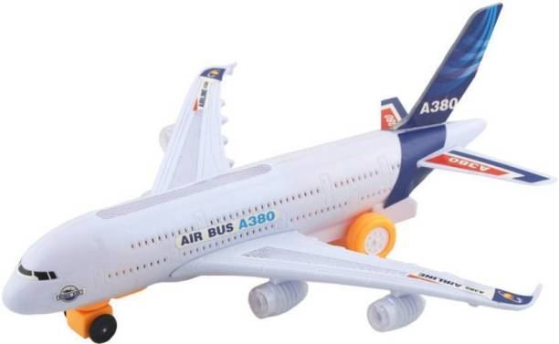 PS Aakriti Aeroplane Automatic Moving System More Interesting with LED light for kids. (multicolor)