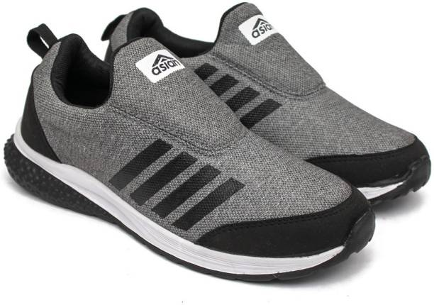 low priced eaa82 9f413 Asian Prime-07 Grey Black Walking Shoes,Gym Shoes,Casual Shoes,Training