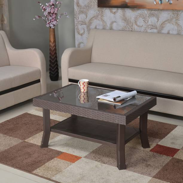 Nilkamal Centble 1 (with Glass) Glass Coffee Table