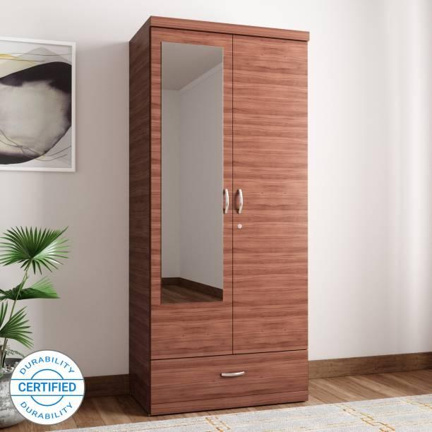 Hometown Ultima 2 Door With Mirror Rwlnt Engineered Wood Almirah