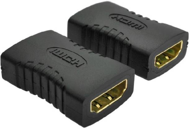 RIVER FOX HDMI Female to Female Coupler Jointer Gender Changer (PACK OF 2) 0.1 m HDMI Cable