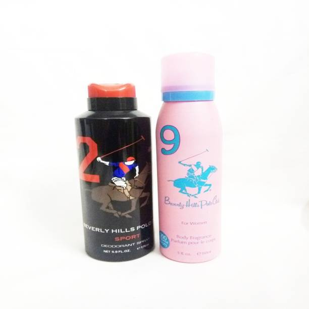 BEVERLY HILLS POLO CLUB 2 AND 9 Deodorant Spray  -  For Men & Women
