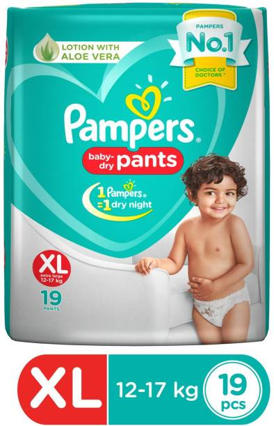 Pampers New Extra Large Size Diapers Pants (19 Count) - XL