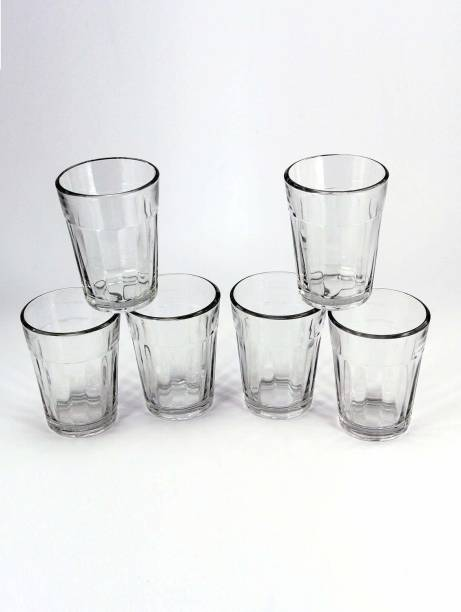 Glass World (Pack of 6) Old School Cutting Chai/Tea Original Glasses Cups, Relive Memories Pack (Set of 6) Glass Set