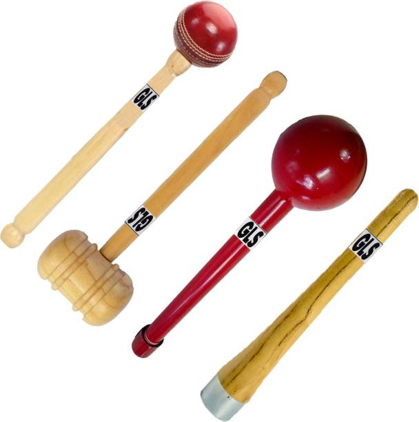 GLS (™) PU Polish 4 Pcs Cricket Bat Hammer Bat Mallet Ball Hammer Grip Cone Gripper Wood Bat Mallet