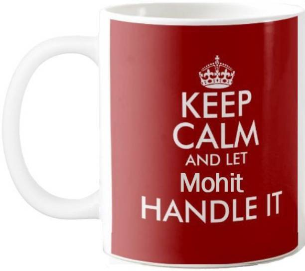 Exoctic Silver MOHIT_Keep calm office quotes 001 Ceramic Coffee Mug