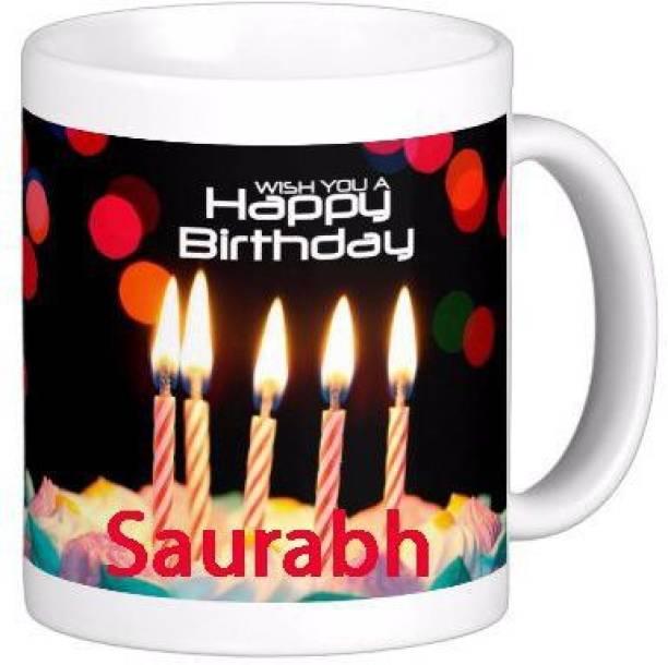GNS SAURABH_Best name coffee mug HBD006 Ceramic Coffee Mug
