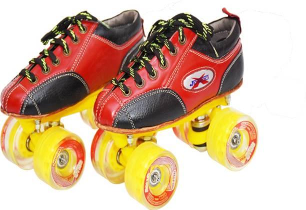 Jaspo pro Hyper Quad Shoe Skates(size-4)(yellow) Quad Roller Skates - Size 4 UK