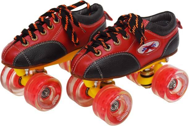 Jaspo pro Hyper Quad Shoe Skates(size-5)(red) Quad Roller Skates - Size 5 UK