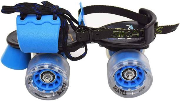 Jaspo Gripper Adjustable Senior Roller Skates (Suitable for Age Group 6 to 14 Years) Quad Roller Skates - Size 6 UK