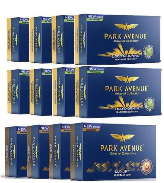 PARK AVENUE GOOD MORNING 125g X 8 + LUXURY Fragrant Soap 125gm X 4
