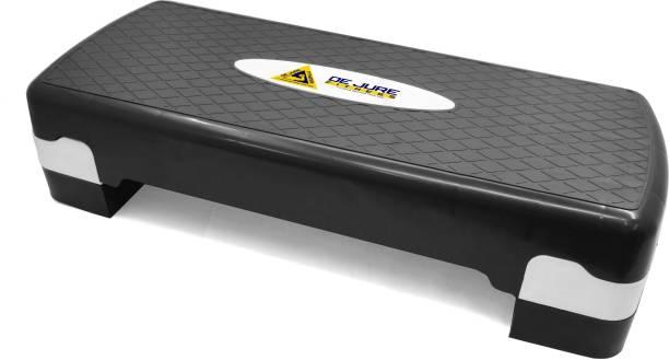 DE JURE FITNESS Polypropylene Adjustable Home Gym Exercise Fitness Aerobic Stepper (Black & Grey) Stepper