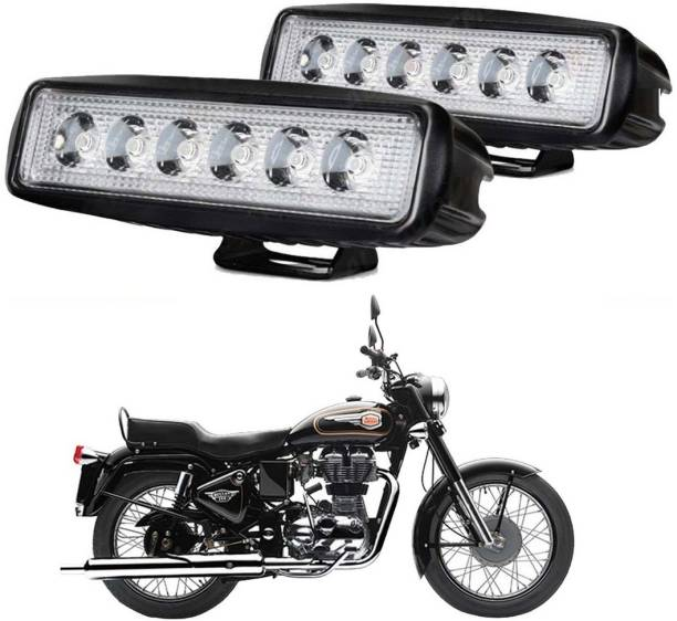 Riderscart Pencil Led 48 Headlight, Fog Lamp Motorbike LED for Royal Enfield (12 V, 18 W)