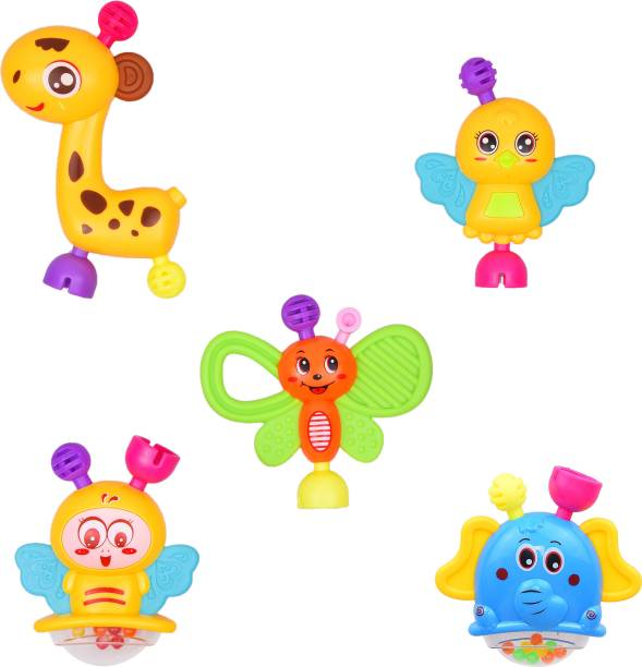 Mickleys High quality set of 6 rattle on toy for babys Rattle