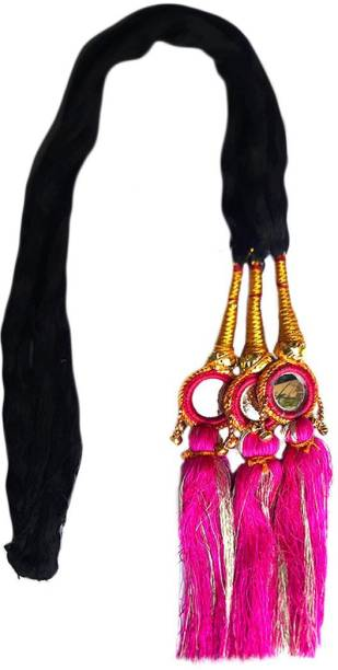 Paradise Parandi For Women And Girls Braids Extensions For Women And Girls/Hair Choti For Women Magenta Braid Extension