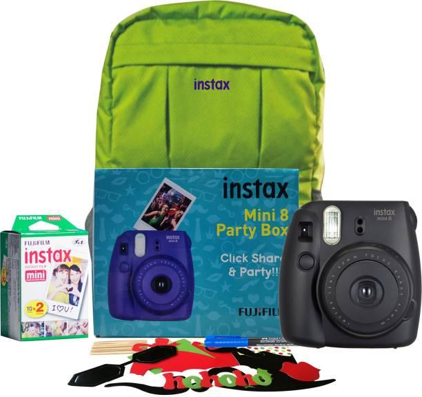 Fujifilm Instax Mini 8 Party box Black Instant Camera