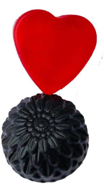 Petals Red wine soap and activated Charcoal Soap 2 Pack combo