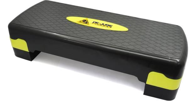 DE JURE FITNESS Polypropylene Adjustable Home Gym Exercise Fitness Stepper (Black & Yellow,Green) Stepper