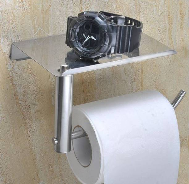 Prestige stainless L-Shape steel chrome polish toilet paper holder Stainless Steel Toilet Paper Holder