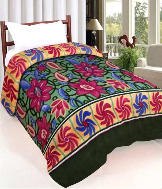 IWS Floral Single Fleece Blanket