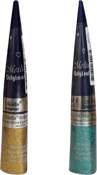 Meilin Combo Pack of Shimmer Glam Shine Eyeliner 14 ml